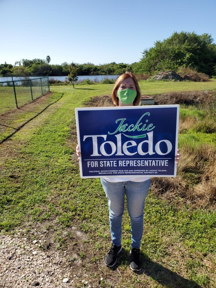 Joy Bodoh, NACM Tampa, campaigns for Jackie Toledo, November 3, 2020
